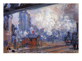The Gare Saint-Lazare Print by Claude Monet