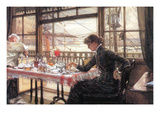 Room with a Glance from the Port Poster von James Tissot