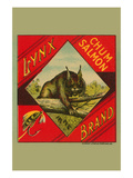 Lynx Brand Chum Salmon Prints by  Schmidt Lithograph Co