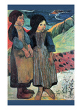 Breton Near Sea Premium Giclee Print by Paul Gauguin