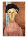 Girl with Hat Foto von Amedeo Modigliani