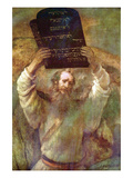 Moses with the Commandments Prints by  Rembrandt van Rijn