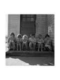 Little Girls Read their Lessons Premium Giclee Print by Dorothea Lange