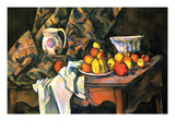 Still Life with Apples and Peaches Poster by Paul Cézanne