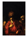 Haman in Disgrace Prints by  Rembrandt van Rijn