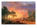 The Oregon Trail Premium Giclée-tryk af Albert Bierstadt