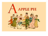 A Apple Pie Poster by Kate Greenaway