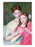 Woman and Girl Poster by Mary Cassatt