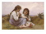 A Childhood Idyll Affiches par William Adolphe Bouguereau