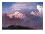 Olana in the Clouds Print by Frederic Edwin Church