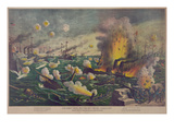 Naval Battle at the Bay in Manila, Philippines Prints