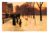 Boston in Everyday Twilight Láminas por Childe Hassam