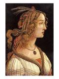 Portrait of Simonetta Vespucci Poster von Sandro Botticelli