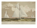 "Sloop Yachts Mischief and Atalanta in the Race for ""The America Cup"" Poster"