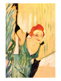 Yvette Guilbert Greets the Audience Print by Henri de Toulouse-Lautrec
