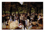 Music in Tuilerie Garden Posters by Edouard Manet
