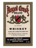 Royal Crest Brand Whiskey Poster