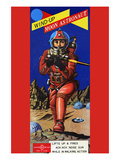 Wind-Up Moon Astronaut Posters