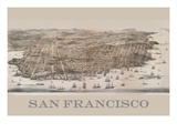 Birds Eye View of San Francisco Premium Giclee Print by  Robinson & Snow