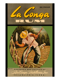 La Conga Rum Prints by  R.C.D.I