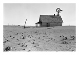 Dust Bowl Farm Print by Dorothea Lange