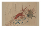 New Year's Decoration Lobster Prints by Tokei Niwa