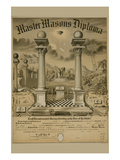 Masonic Symbols - Master Masons Diploma Prints by  Bishop