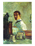 Self Portrai Looking in a Mirror Pósters por Henri de Toulouse-Lautrec
