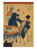 Banquet at a Foreign Mercantile House in Yokohama (Yokohama Ijin ShoKa Shuen No Zu) Print by Sadahide Utagawa