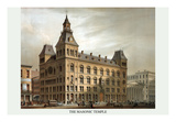 Symbols - Masonic Hall - Cincinnati, Ohio Premium Giclee Print by Strobridge & Co, Middleton