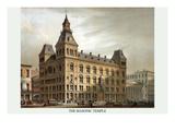 Symbols - Masonic Hall - Cincinnati, Ohio Posters by Strobridge & Co, Middleton