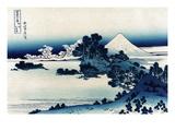 Schichiri Beach in Sagami Province Giclee-tryk i høj kvalitet af Katsushika Hokusai