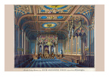 Symbols - Grand Lodge Room of the New Masonic Hall, Chestnut Street Philadelphia Premium Giclee Print by  Rosenthal
