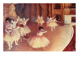 Dress Rehearsal of the Ballet on the Stage Premium Giclee Print by Edgar Degas