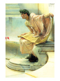 A Reading of Homer, Detail [2] Premium Giclee Print by Sir Lawrence Alma-Tadema