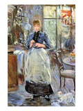 In Dining Room Premium Giclee Print by Berthe Morisot