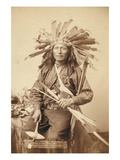 Little, the Instigator of Indian Revolt at Pine Ridge, 1890 Posters by John C.H. Grabill