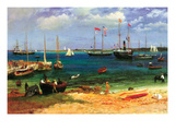 Nassau Port Poster by Albert Bierstadt