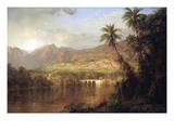 Tropical Scene Art by Frederic Edwin Church