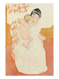 Motherly Tenderness Premium Giclee Print by Mary Cassatt