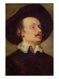 Self Portriat of a Man Kunst von Anthony Van Dyck