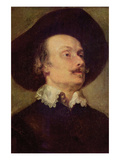 Self Portriat of a Man Prints by Anthony Van Dyck