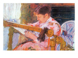 Lydia at the Cord Framework Prints by Mary Cassatt