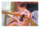 Lydia at the Cord Framework Prints by Mary Cassatt