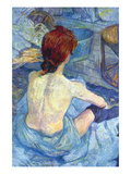 Rousse the Toilet Print by Henri de Toulouse-Lautrec