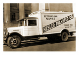 Hesler Transfer Co. Delivery Truck with Refrigerator Service Prints
