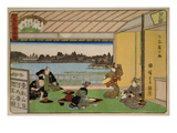 Drinking Party at Restaurant Kawachiro (Kawachiro / Hiroshige-Ga) Prints by Ando Hiroshige