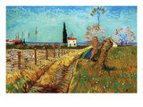 Path Through a Field with Willows Print by Vincent van Gogh