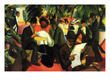 Garden Restaurant Prints by August Macke