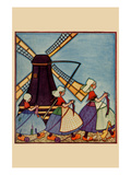 Dutch Girls Knitting Prints by  Needlecraft Magazine